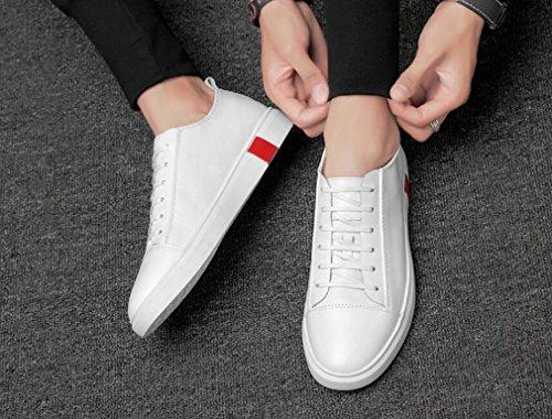 De Sneakers De Blue Chaussures 39 Printemps Black Hommes Cuir De Homme Non Sport White Sport Hommes Course Chaussures Automne Chaussures Slip White rqrfvZ