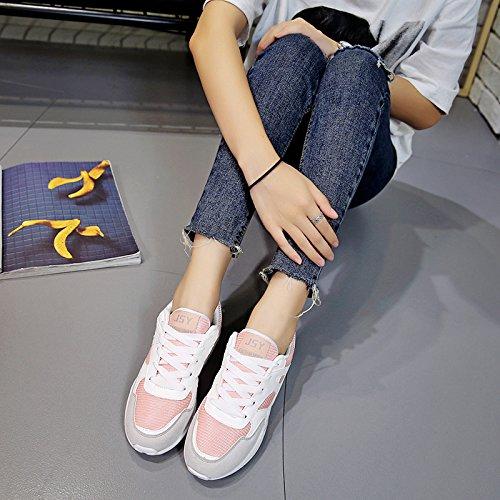 NGRDX&G Komfort Sport Lauf Luftpolster Schuhe Weibliche Studenten Beiläufige Atmungsaktive Mesh Oberfläche Einzelne Schuhe The white powder