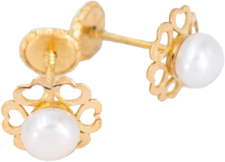 Pendientes con perla oro 18k   Priority   Pendientes de oro, Pendientes de niña, Pendientes con perla, Pendientes con tuerca, Pendientes para regalo