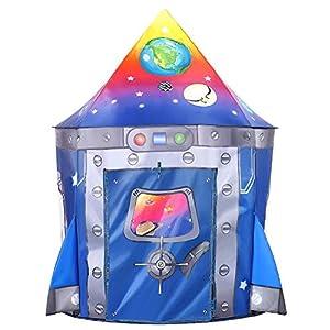 Tacobear Razzo Tenda per Bambini Tenda Razzo Tenda da Gioco Portatile Tenda Pop Up Casa Gioco Castello Giochi per… 51dYLUXMSAL. SS300