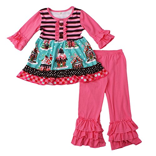 belababy Christmas Boutique Clothing Set Pink 2T Toddler Girls