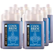 Cool Brew Fresh Coffee Concentrate - Original 6 x 1 Liter - Make Iced Coffee or Hot Coffee - Enough for over 200 cups