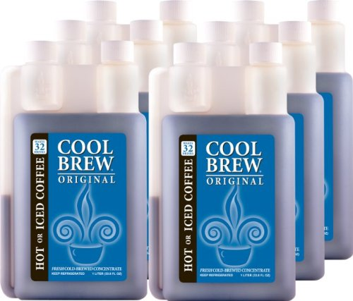 Cool Brew Fresh Coffee Concentrate - Original 6 x 1 Liter - Make Iced Coffee or Hot Coffee - Enough for over 200 cups by CoolBrew