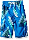 Kanu Surf Big Boys' Voltage Geo Quick Dry Beach Board Shorts Swim Trunk, Royal Blue, Large (14/16)