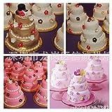 Astra shop Set of 4 Mini 3-Tier Cupcake Pudding