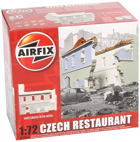 (Airfix A75016 Czech Restaurant Ruin 1:72 Diorama Resin Undecorated Model)