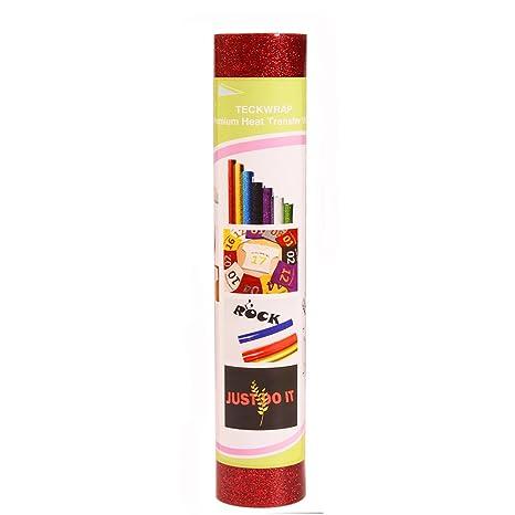 Rollo de papel de transferencia de calor de vinilo con purpurina vinilo HTV 9,8