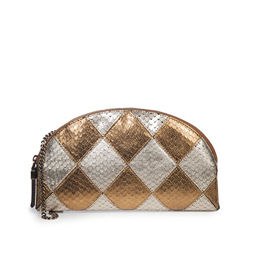 Eric Javits Luxury Fashion Designer Women's Handbag - Pierrot - Gold Mix by Eric Javits