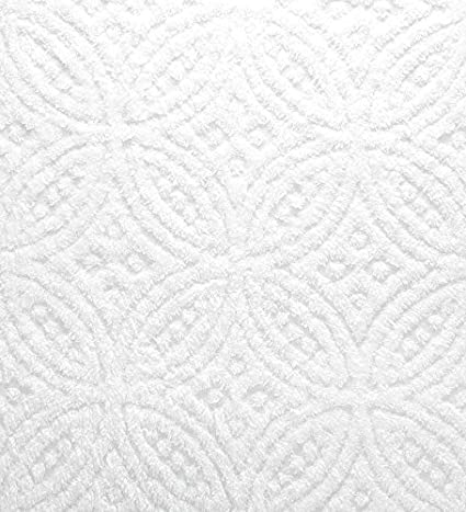 Amazoncom Full Wedding Ring Tufted Chenille Bedspread in White