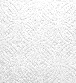 in White Twin Wedding Ring Tufted Chenille Bedspread