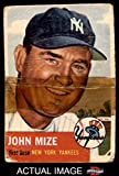 1953 Topps # 77 Johnny Mize New York Yankees (Baseball Card) Dean's Cards AUTHENTIC Yankees