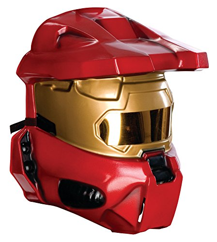 Halo Universe Spartan Half-Mask, Red, One Size -