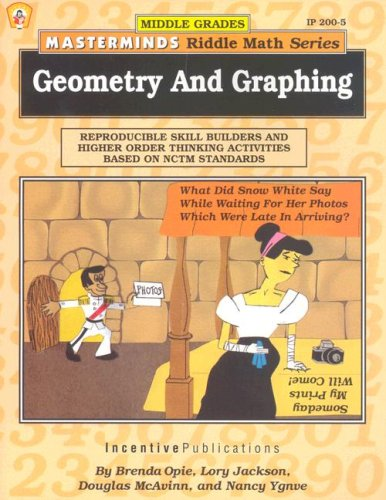 Masterminds Riddle Math for Middle Grades: Geometry and Graphing: Reproducible Skill Builders and Higher Order Thinking Activities Based on NCTM Standards