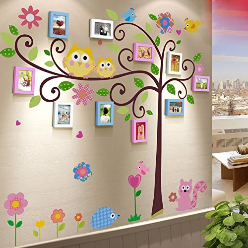 TIANTA- Solid Wood Photo Wall Frame Combination Refreshing Creative Children Bedroom Wall Color Kindergarten Classroom Photo Wall adorn ( Color : #5 )