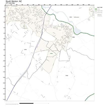 Amazon.com: ZIP Code Wall Map of South Weldon, NC ZIP Code Map Not on