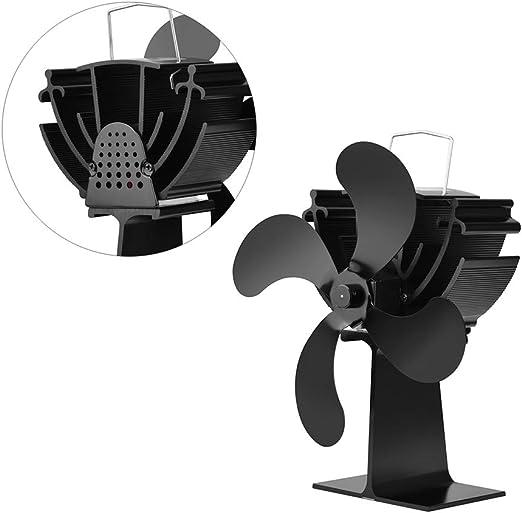 Accesorios para Chimeneas, Ventilador De Chimenea, Estufa De Leña, Ventilador De Estufa, Sin Batería 4 Cuchillas, Inducción Inteligente, Aire Caliente En Espiral.: Amazon.es: Hogar