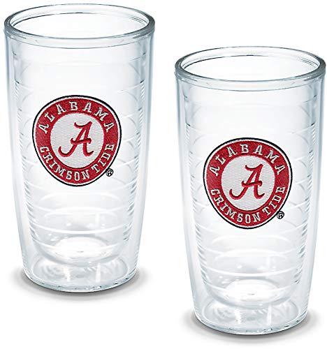 Tervis 1005954 Alabama University Emblem Tumbler, Set of 2, 16 oz, Clear