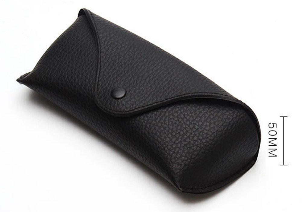 Funnuf Beltloop Vintage Sunglasses Case Litchi Leather Belt Case Retro Glasses Pouch Eyewear Case black by Funnuf (Image #6)