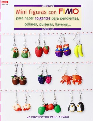 Mini Figuras con Fimo para hacer colgantes para pendientes, collares, pulseras, llaveros