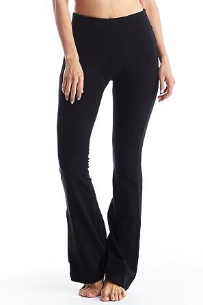 Popular Basics Women's Cotton Yoga Pants With Tie-Dye Fold Down ...