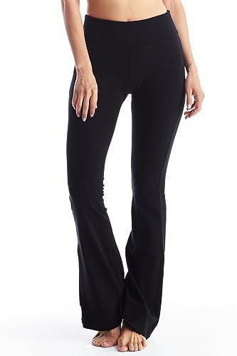 Women's Cotton Yoga Pants With Tie-Dye Fold Down Waist