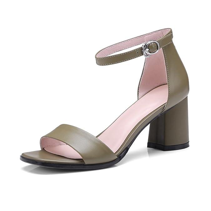 KJJDE Pantoletten Damenschuhe Sandalen Sandaletten WSXY-L0516 Einfache Serie Sandaletten Lack Schlappen Hausschuhe...