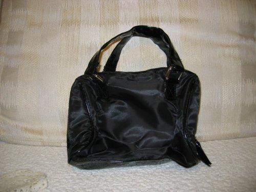 - Avon Black Zip Top Bag Tote Cosmetic Bag Soft & Roomy