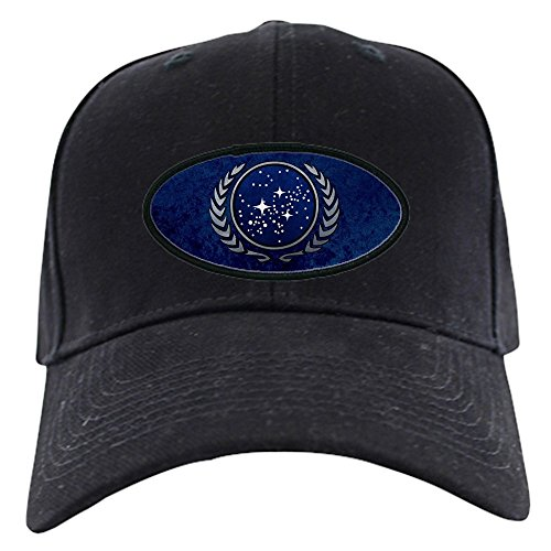 (CafePress - StarTrek UFP Stone Black Cap - Baseball Hat, Novelty Black Cap)