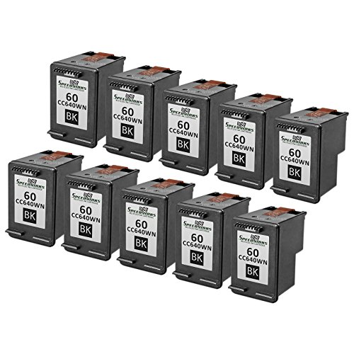 Speedy Inks - 10PK Remanufactured replacement for HP 60 C...