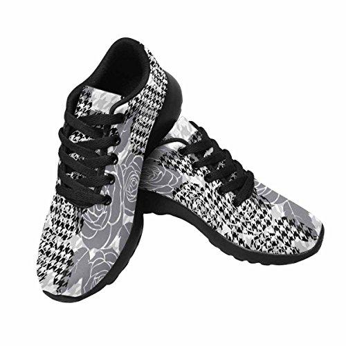 Interessante Da Donna Da Jogging Da Corsa Sneaker Leggero Andare Facile Da Passeggio Comfort Sportivo Da Corsa Scarpe Da Caccia Dente Modello Con Rose Multi 1