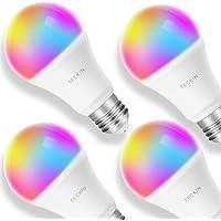 4-Pack Teckin 7.5W (60W Equivalent) WiFi Smart LED Multicolor A19 Light Bulbs