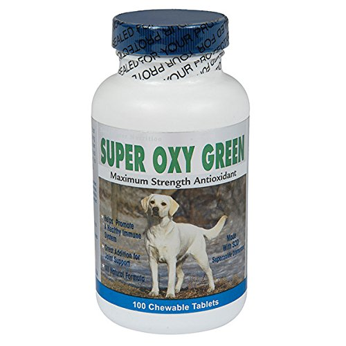 Super Oxy Green Maximum Strength Antioxidants for Dogs - 100 count