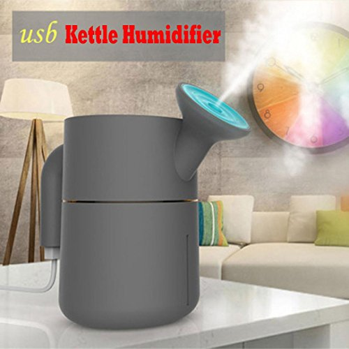 Eva Kettle (Efaster Creative 200ml USB Creative Kettle Home Aroma Humidifier Air Diffuser Purifier Atomizer (Blue))