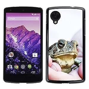 chen-shop design YOYO Slim PC / Aluminium Case Cover Armor Shell Portection //Cool Happy Big Frog //LG Google Nexus 5 high quality