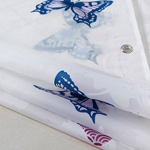 KHSKX-Cuarto de baño cortina de ducha fija de grueso impermeable baño cortina de ducha mampara de cortina cortina de lluvia simple sala de lluvia enviar cortina de ducha rod180 * 180 cm: