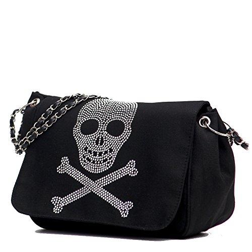 With Skull Handbag Sturm Womens Drang Design Medium Strass xqUxtypBzw