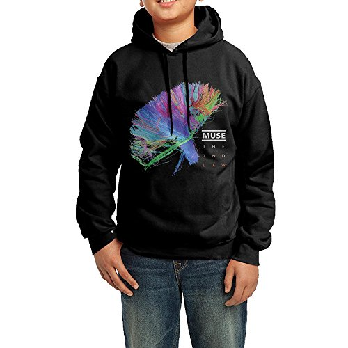 GGDD Boys & Girls Muse The 2nd Law Camper Classic Hoodie Hoodies Leisure Style L Black 2017