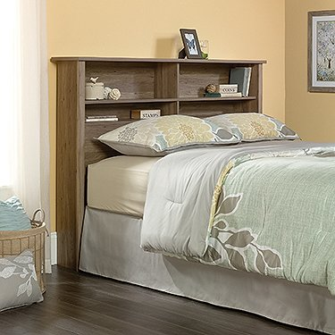 Sauder 419321 County Line Full/Queen Bookcase Headboard, Salt Oak Finish by Sauder