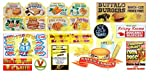 HO Scale Circus Sideshow Carnival Food & Beverage Signage Decals #2