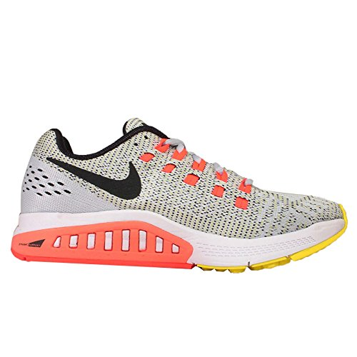 Nike W Nike Air Zoom Structure 19 - Zapatillas de running Unisex adulto Plateado (Pr Pltnm / Blk-Opt Yllw-Hypr Orn)
