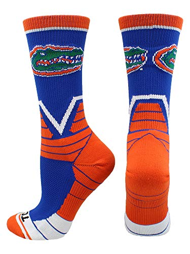 (TCK Florida Gators Victory Crew Socks (Royal/Orange/White, Medium))
