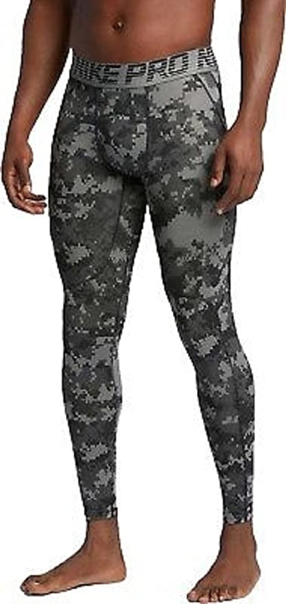 NIKE Pro Digital Camo Tights Gray Hypercool Compression Men Size Small
