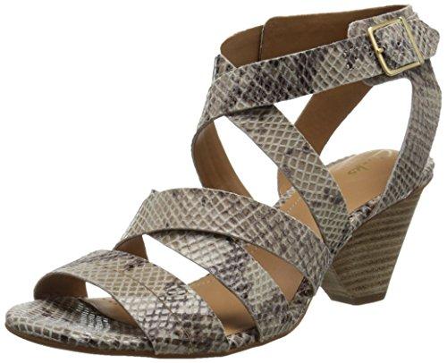 Clarks Women's Ranae Estelle Dress Sandal, Natural, 7 M US