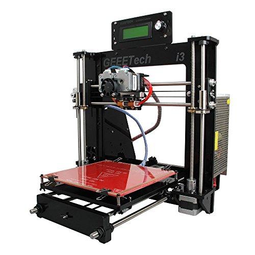Geeetech ® Prusa Acrylique I3 Pro c structure à bricoler imprimante 3D en kit DIY, 5 types de filament , Imprimante 3D de Bureau avec double extrudeur pour 2 couleurs