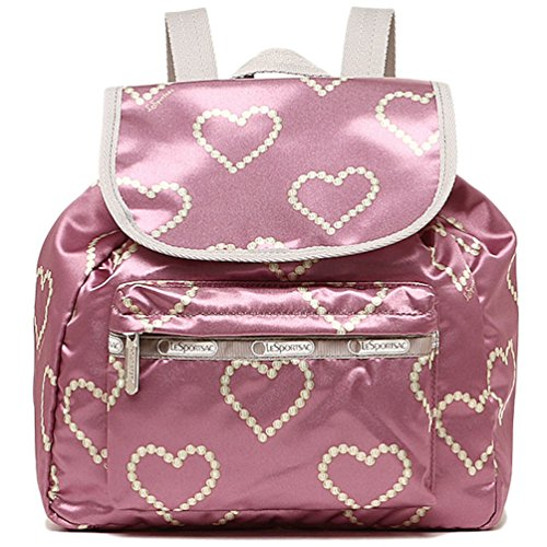 (LeSportsac Small Edie Backpack (Rosewood Hearts))