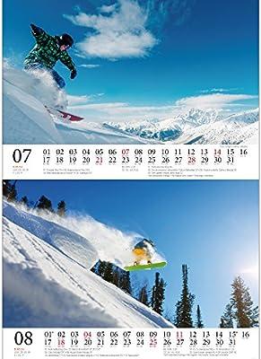 Snowboard magique – DIN A5 – Premium Calendrier de bureau ...