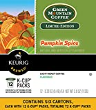 Green Mountain Coffee Pumpkin Spice, Keurig K-Cups, 72 Count
