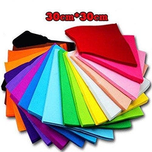 18pcs in 18 colors 30x30cm 1mm Child handmade materials multicolour diy colored nonwoven fabric felt for craft