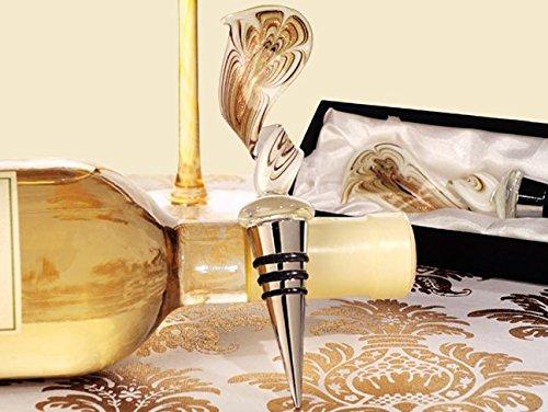 Murano art deco collection elegant golden swirl wine stopper by Cassiani