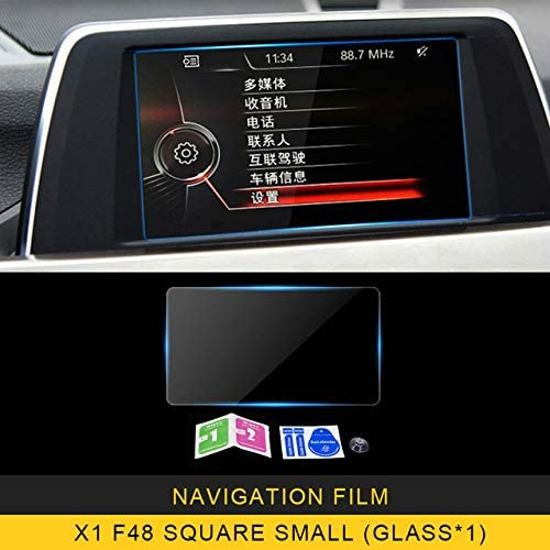 JXRIQC カーナビゲーションモニタースクリーンプロテクターGPS保護強化ガラスフィルムステッカーインテリアアクセサリー。BMW X1 F48 2014 2019の場合